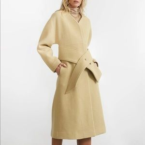 MOS edition HOURGLASS COAT DRESS IN MARZIPAN